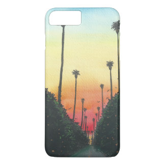 Palm Lined Street at Sundown iPhone 7 Plus Case
