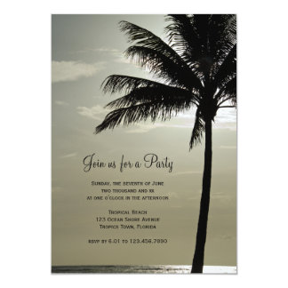 Palm Tree Silhouette General Party Invitation