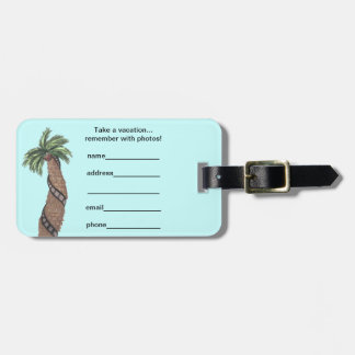 Palm Tree With Film Roll Wrapped Around Luggage Ta Bag Tags
