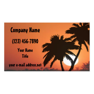 Palm trees at sunset pack of standard business cards