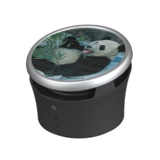 Panda eating bamboo by river bank, Wolong, 2 Bluetooth Speaker