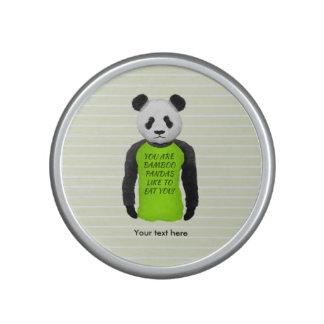 Panda Wearing A Funny Warning T-shirt Bluetooth Speaker