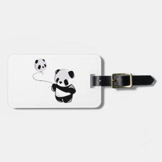 Panda With Balloon Luggage Tags