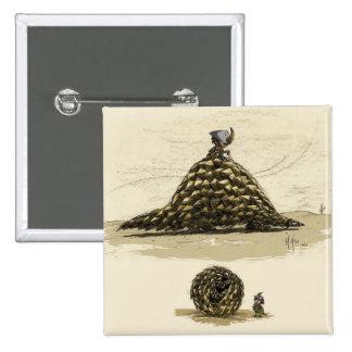 Pangolin Warrior 15 Cm Square Badge