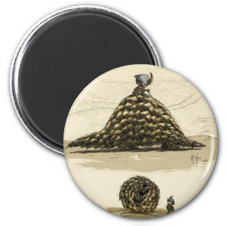 Pangolin Warrior 6 Cm Round Magnet