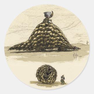 Pangolin Warrior Round Sticker