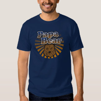 Papa Bear, Cool Fathers Day Vintage Look T-shirts