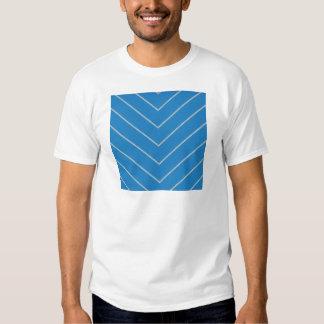 paper139 BLUE WHITE ZIGZAG PATTERN ZIG ZAG TEMPLAT T-shirt