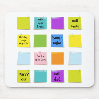 Paper Notes Mouse Pad