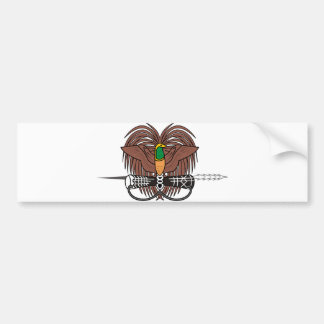 Papua New Guinea Official Coat Of Arms Heraldry Bumper Sticker