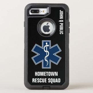Paramedic EMT EMS Name template OtterBox Defender iPhone 7 Plus Case