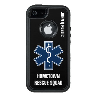 Paramedic EMT EMS Name template OtterBox iPhone 5/5s/SE Case