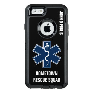Paramedic EMT EMS Name template OtterBox iPhone 6/6s Case