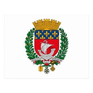 Paris Coat of Arms Postcard