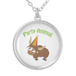 Party Animal Yak Round Pendant Necklace