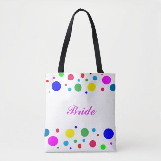 Party Colors Bridal Wedding Tote Bag