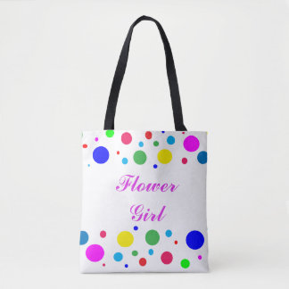 Party Colors Flower Girl Wedding Tote Bag