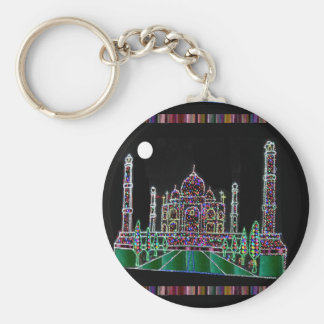 Party GIVEAWAY RETURN GIFTS: Taj Mahal Agra India Basic Round Button Key Ring