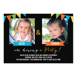Party Together Birthday Invitations - Black