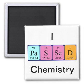 Passed chemistry periodic table name magnet