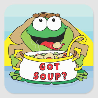 """Passover Square Stickers """"Got Soup?"""""""