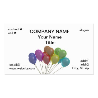 pastel balloon fan pack of standard business cards
