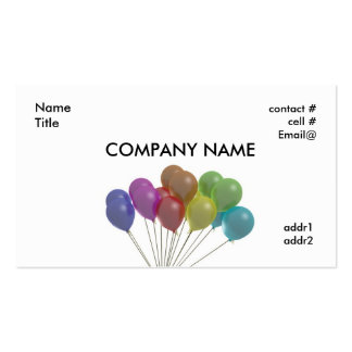 pastel balloons fan pack of standard business cards