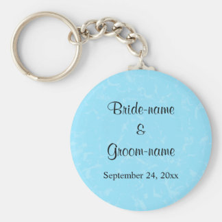 Pastel Blue Subtle Abstract Background Wedding Basic Round Button Key Ring