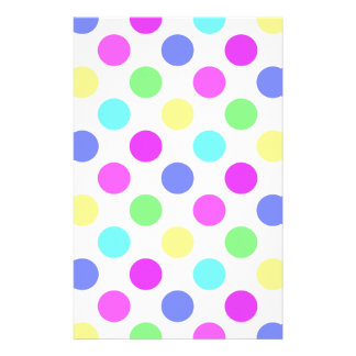 Pastel Colors Polka Dots Stationery Design