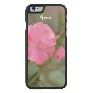 Pastel Pink Rose in Iraq Carved® Maple iPhone 6 Slim Case