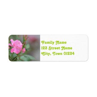 Pastel Pink Rose in Iraq Return Address Label