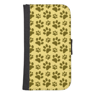 Pastel yellow dog paw print pattern
