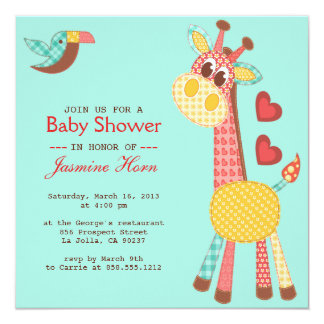 Patchwork Baby Shower Invitation