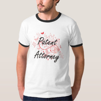 Patent Attorney Artistic Job Design with Butterfli Tee Shirt