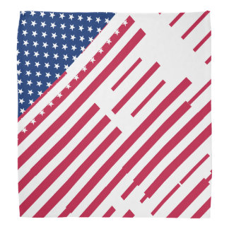 Patriotic USA American Flag Stripes Stars Bandana