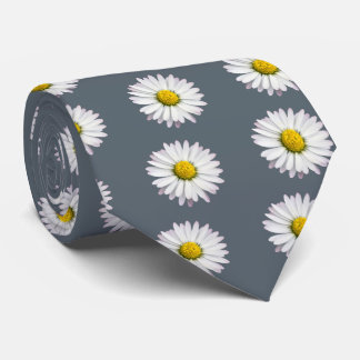 Pattern of yellow and white daisies tie