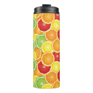 Pattern with citrus fruits thermal tumbler