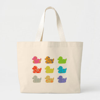 Patterned Ducks Jumbo Tote Bag
