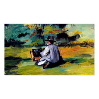 Paul Cezanne A Painter at Work impressionist art Pack Of Standard Business Cards