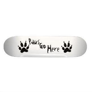Paws Go Here Skate Deck