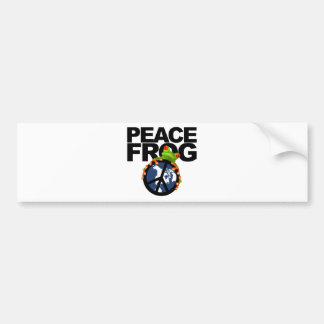 Peace, Frog-2 Bumper Sticker