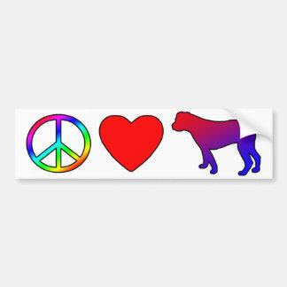 Peace Love American Bulldogs Bumper Sticker