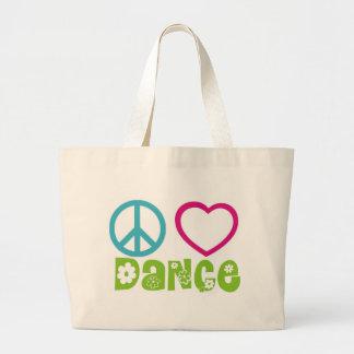 Peace Love Dance Jumbo Tote Bag