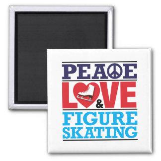Peace Love Figure Skating Magnet