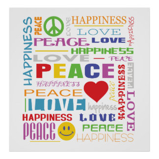 Peace Love Happiness Poster