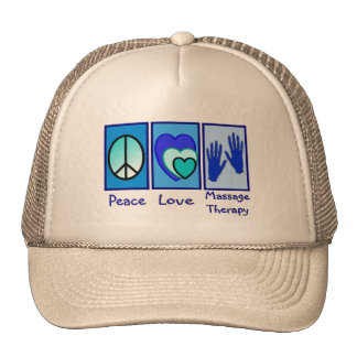 Peace, Love, Massage Therapy Gifts Cap