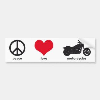 Peace • Love • Motorcycles Bumper Sticker