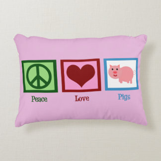 Peace Love Pigs Accent Cushion