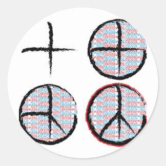 Peace  NOT Crosshairs Round Sticker