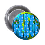 Peace on Earth Snowflakes 6 Cm Round Badge